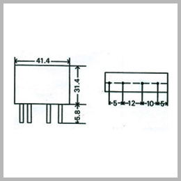 pcb mounting dc to ac solid state relay